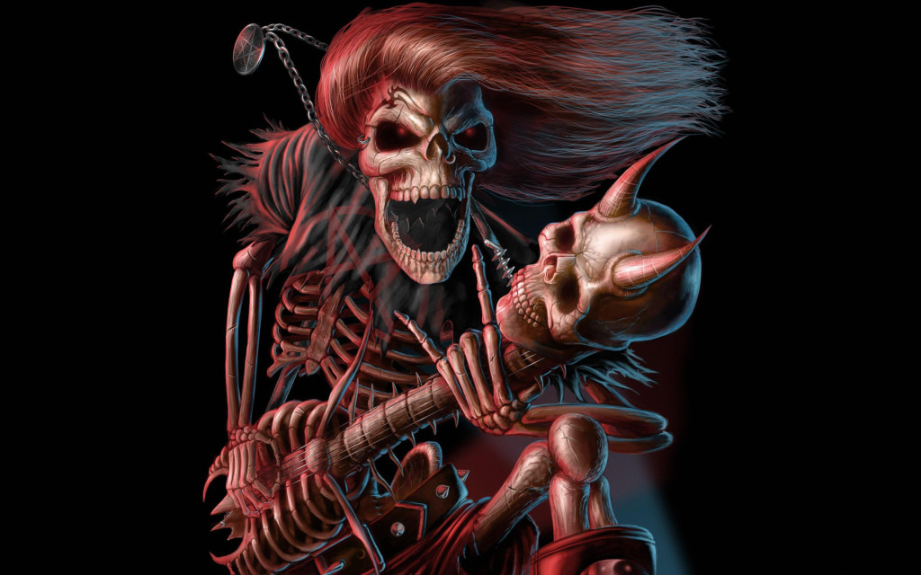 Guitar Skeletons Skull Wallpaper