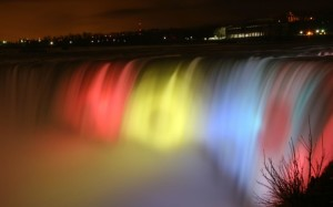 Niagara Falls Night HD Wallpaper