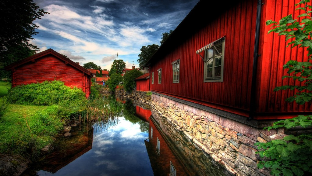 Red House HD Wallpaper 1080p
