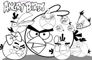 Angry Birds Coloring Pictures