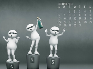 Calender October 2013 Backgrpund Wallpaper