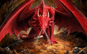 Red Dragon Wallpaper For Notebook