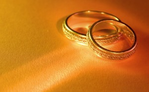 Wedding Gold RIng Wallpaper