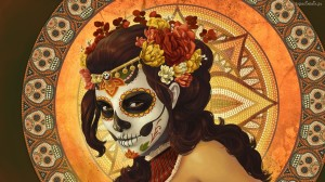 Catrina Face Design Wallpaper HD