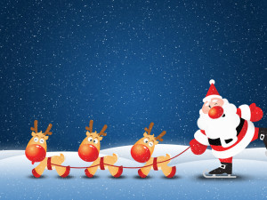 Funny Santa Claus HD Wallpaper