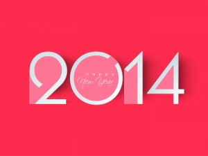 Pink Happy New Year 2014 Wallpaper