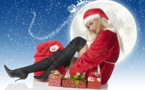 Santa Claus Girl HD Wallpapers