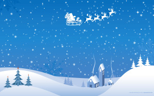 Santa Claus Winter Wallpaper