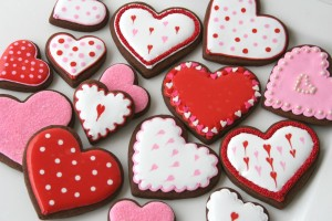 Love Cookies Chocolate valentine Wallpaper