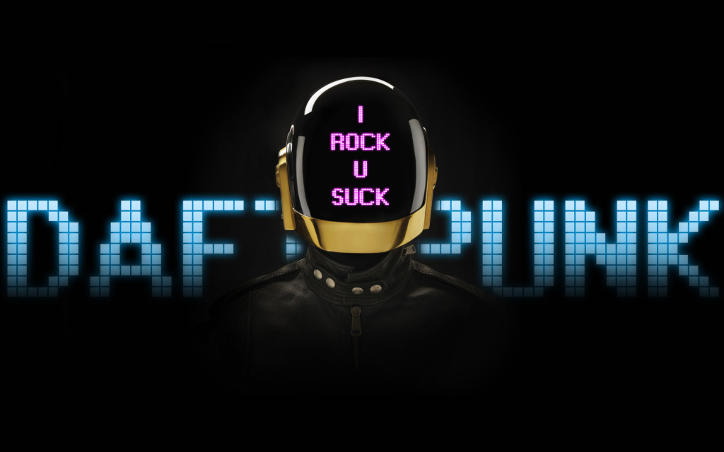 Coll Daft Punk Faces Wallpaper