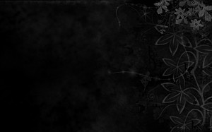 Black Abstract Floral Background Wallpaper