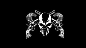 Black Old Skull Wallpaper HD